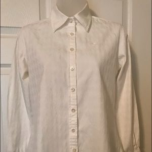 Lilly Pulitzer size 2 white button down shirt
